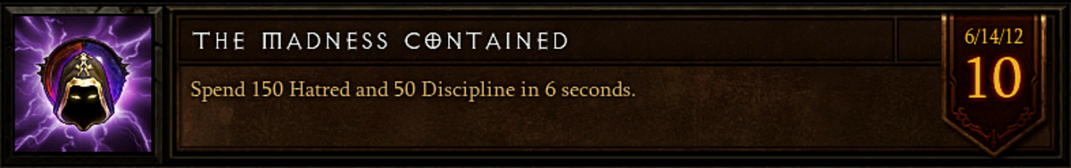 The Madness Contained achievement.