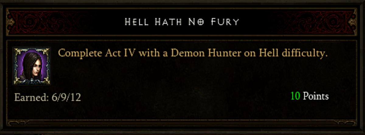 Hell Hath No Fury achievement.