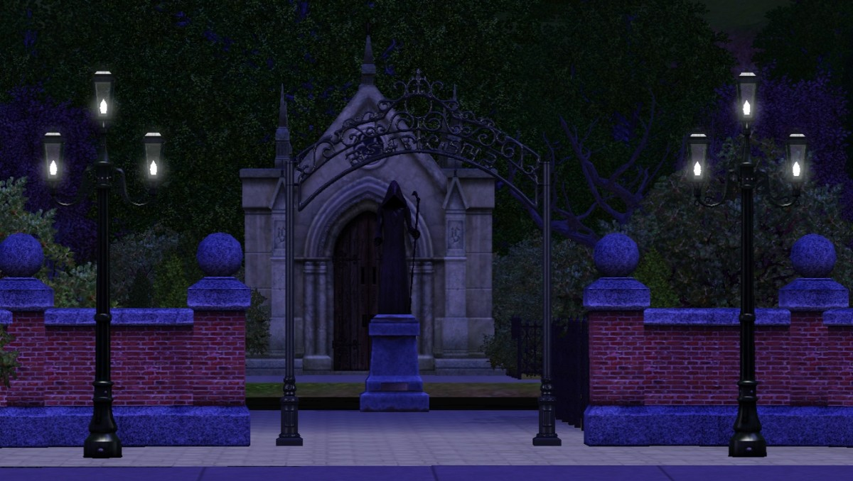 Graveyard in Sunset Valley.
