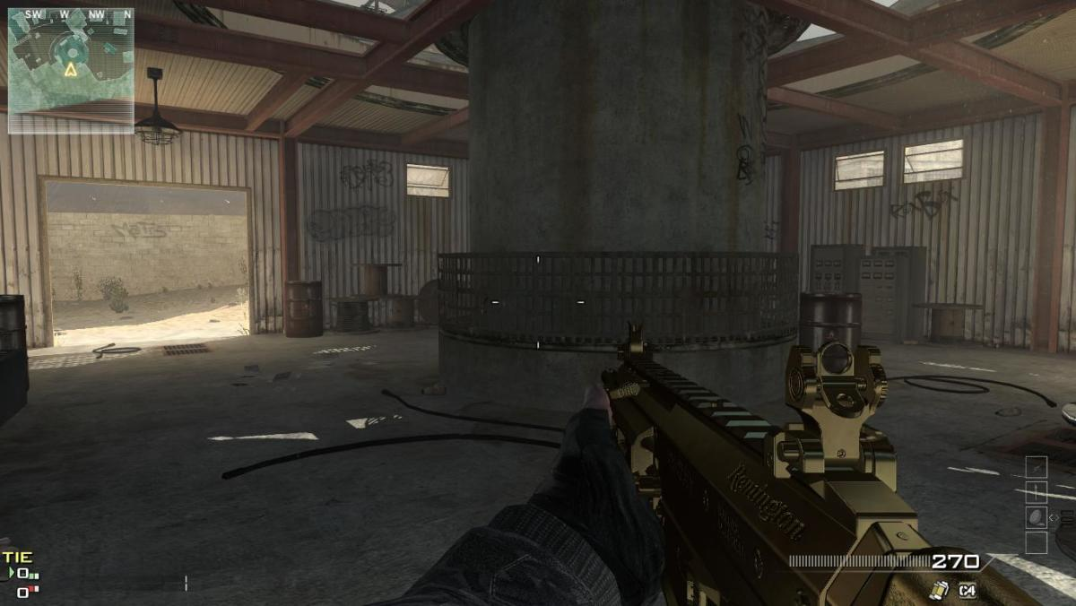 Another snap-shot image of the Gold ACR 6.8 Assault rifle.