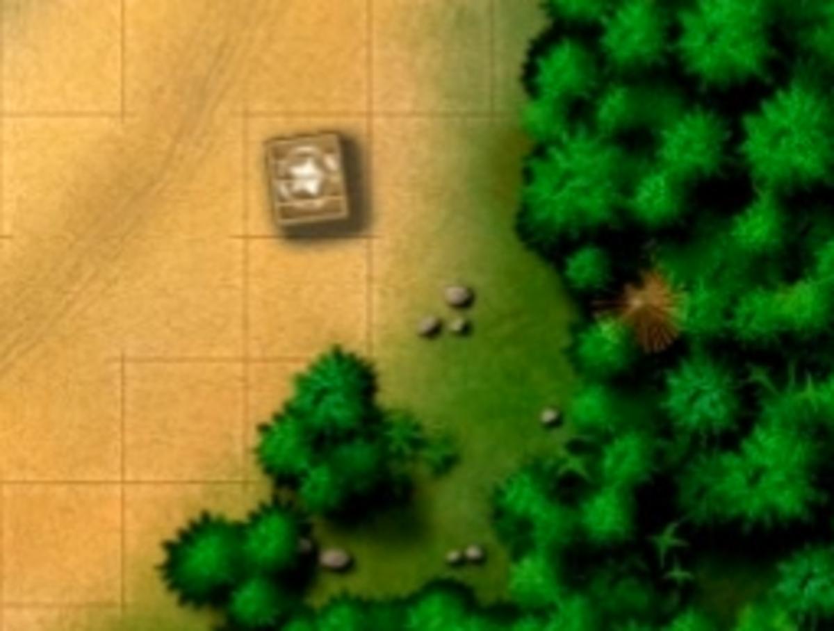 The small hut hidden target.