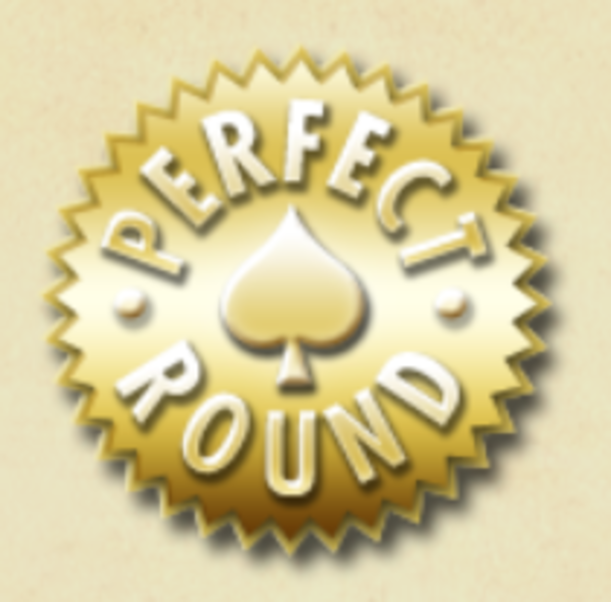 Gold Perfect Round medal.