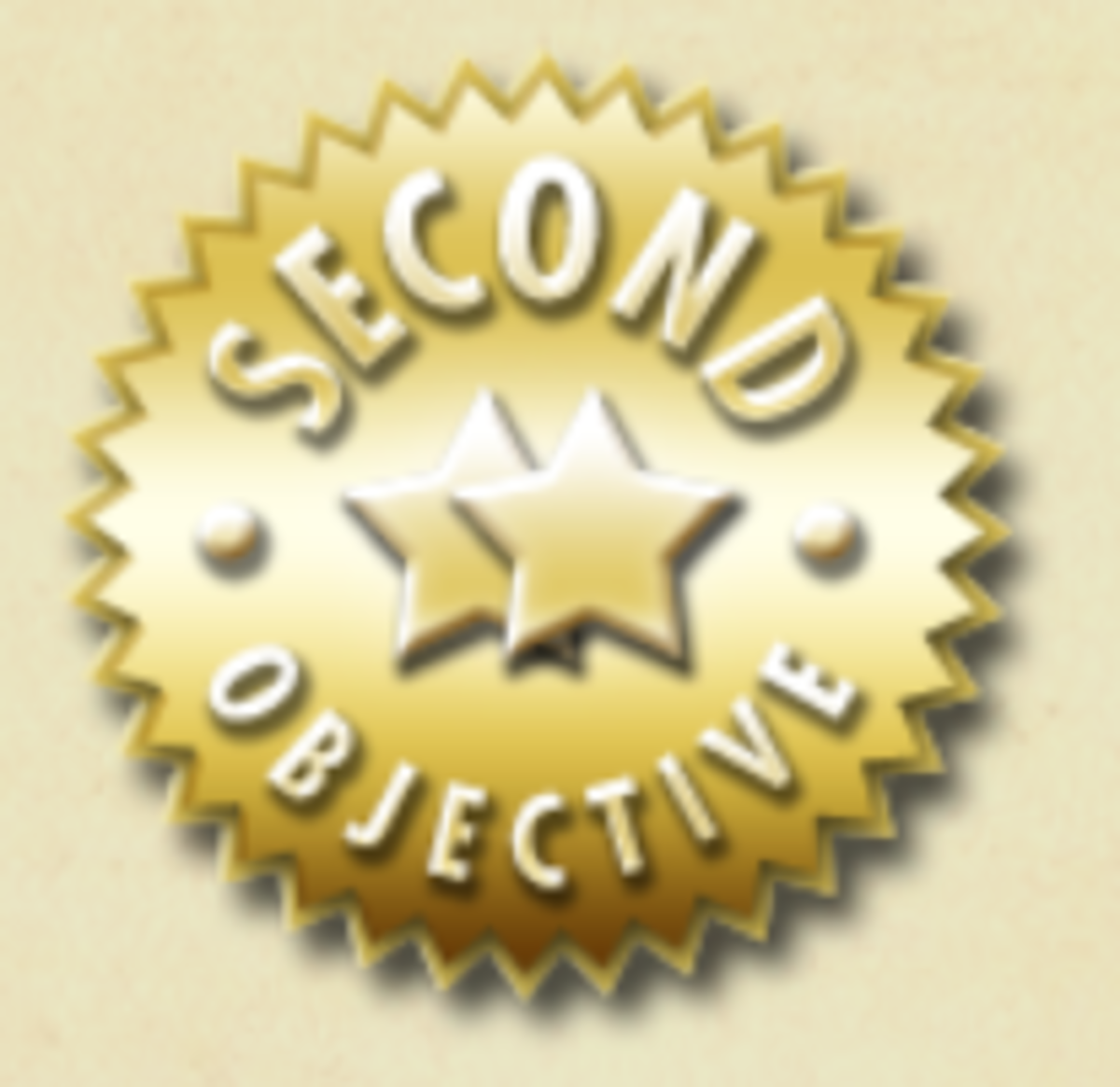 The Gold Second Objective medal.