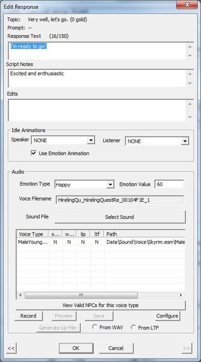 Write down the ID for the voice file you are duplicating