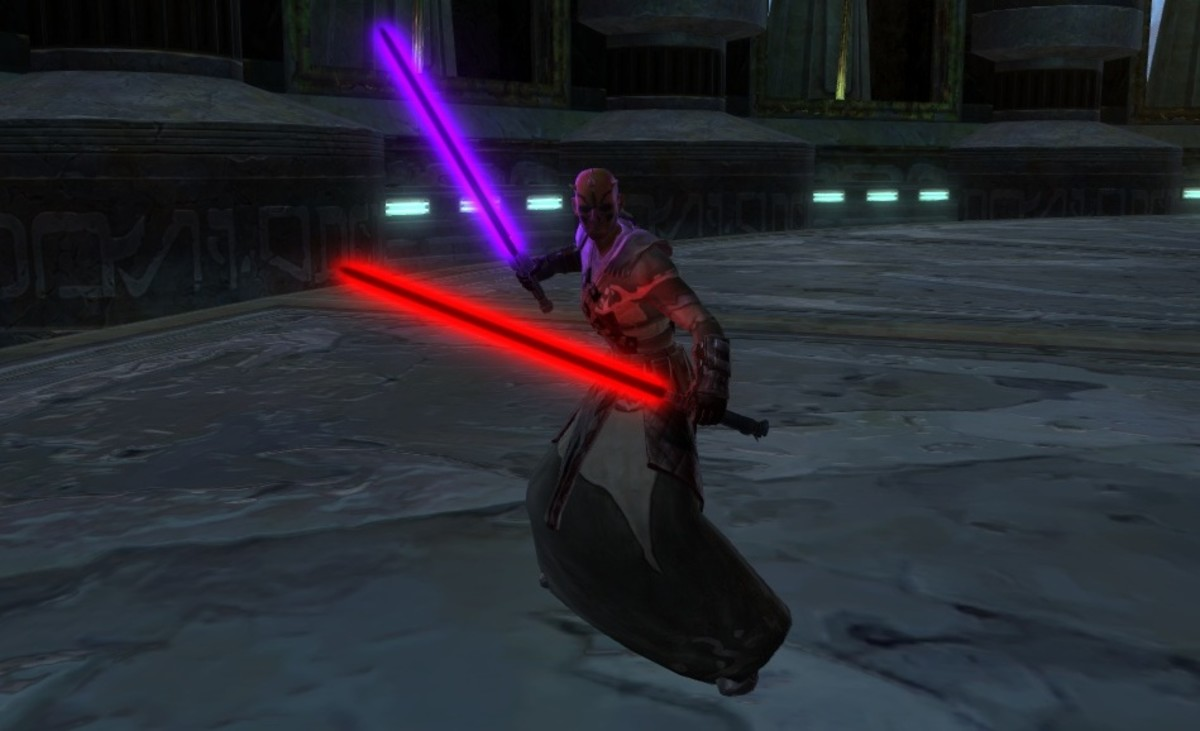 Black and purple lightsabers.