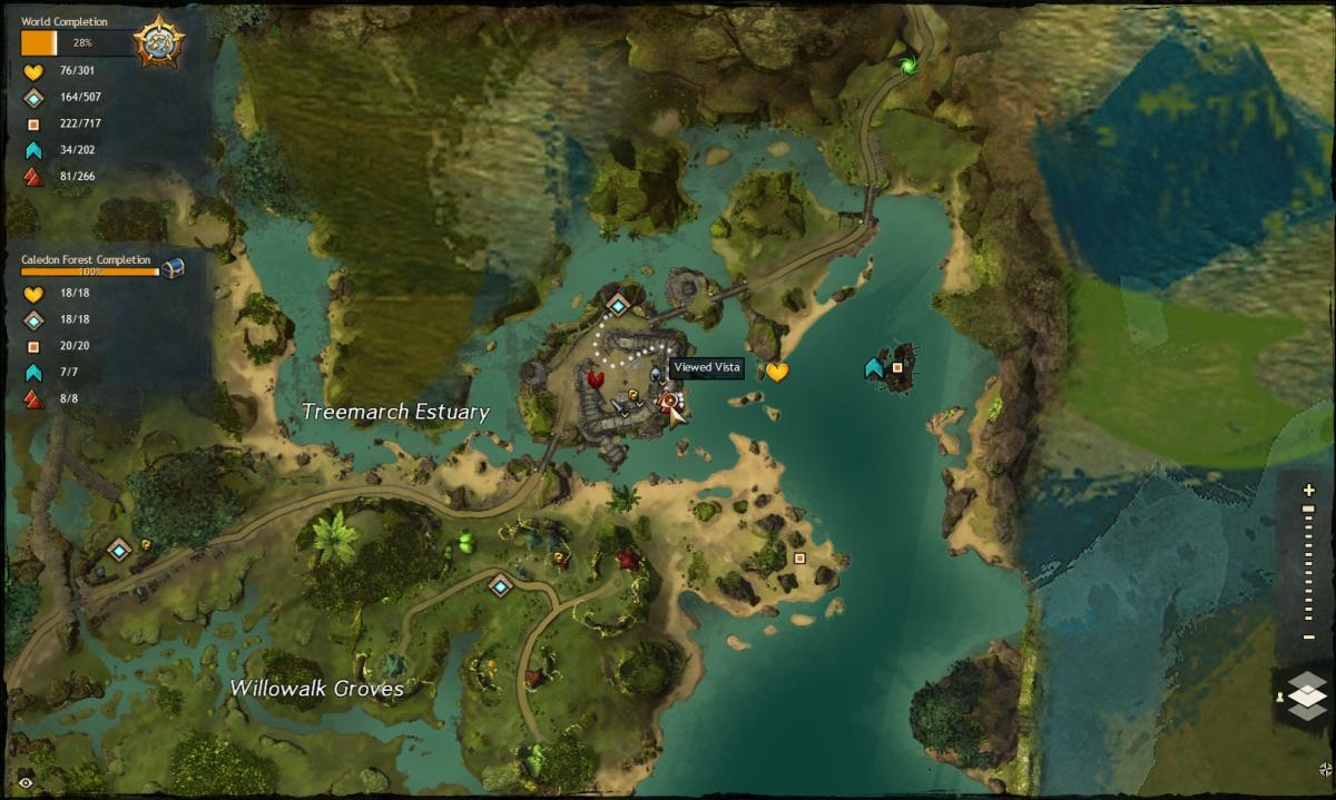 Map route to the Queztal Bay Vista