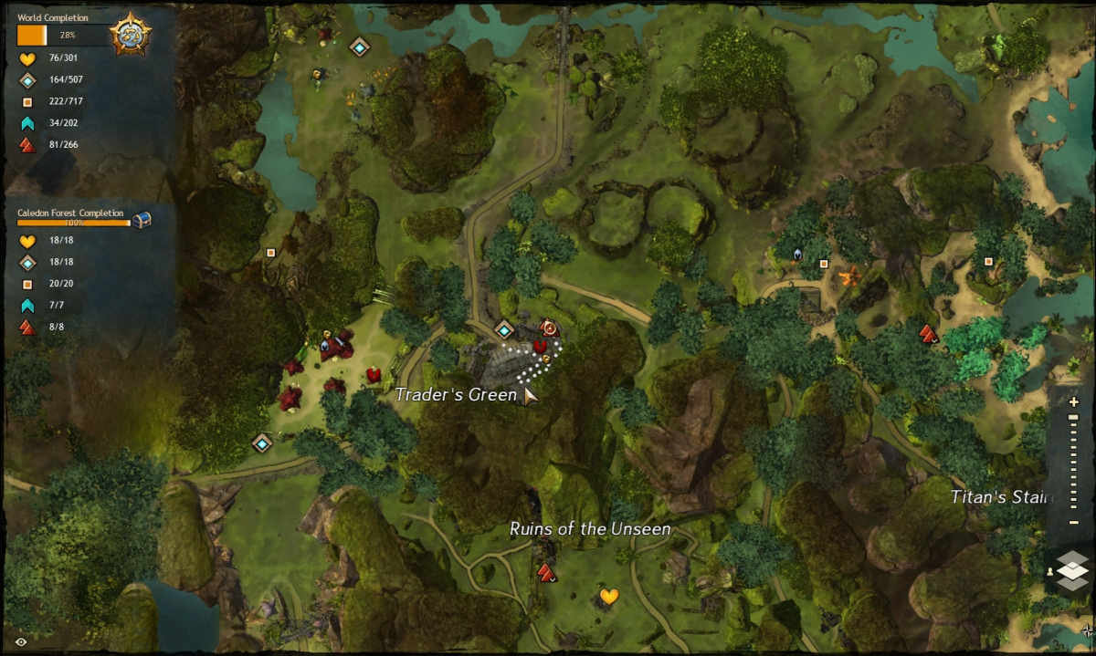 Map route to the Trader's Green Vista
