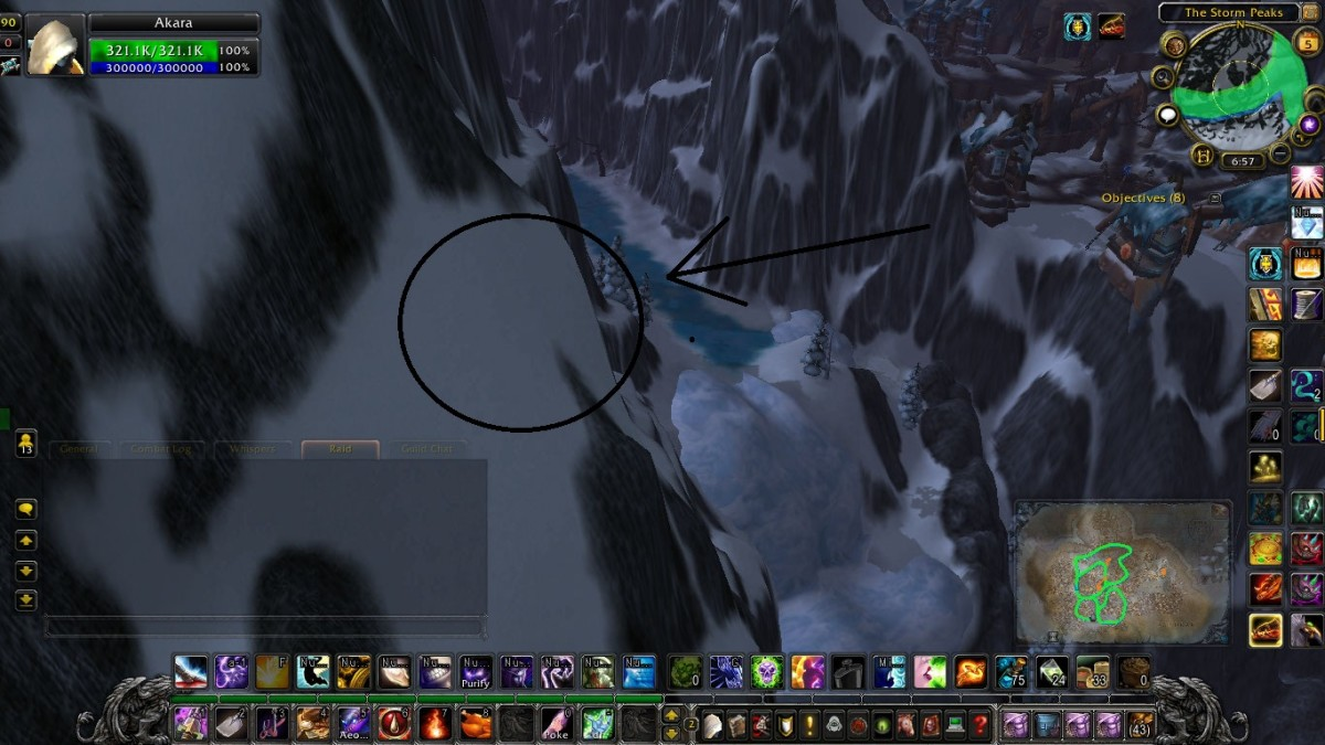 This is the spawn point when looking towards the waterfall.