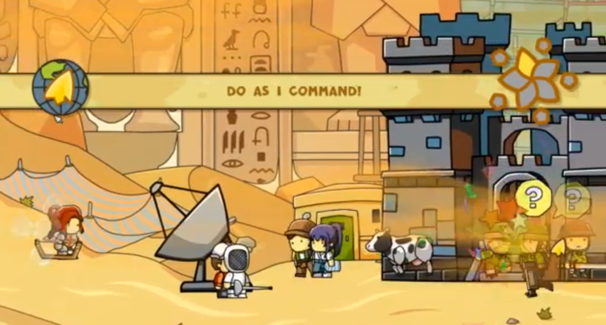 scribblenauts-unlimited-walkthrough-tomb-of-onomatopoeia-and-abjad-dunes