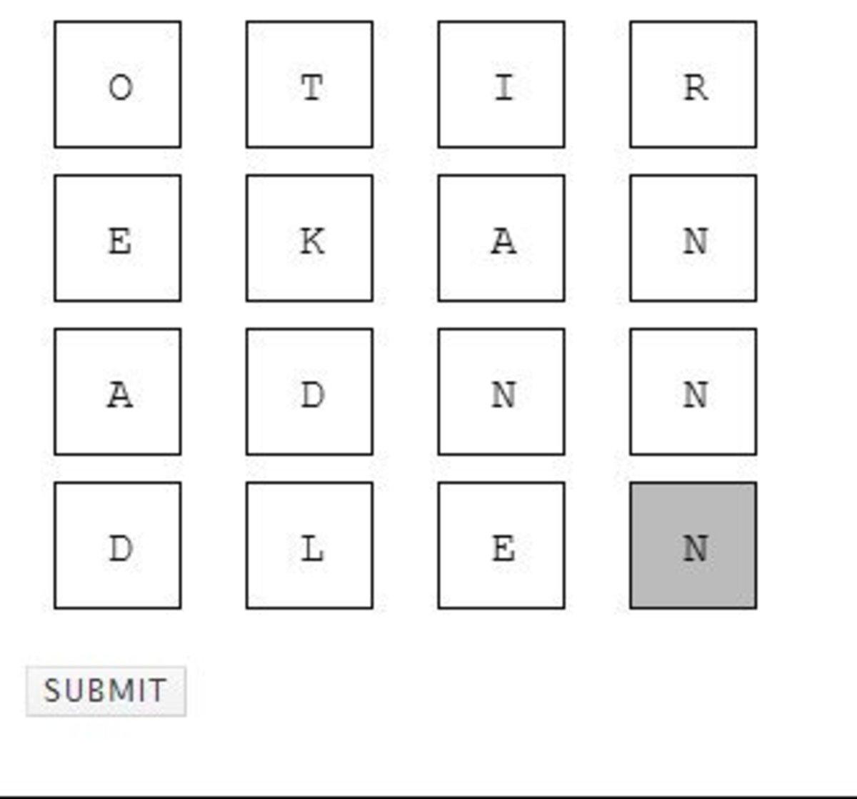 Online Word Solver