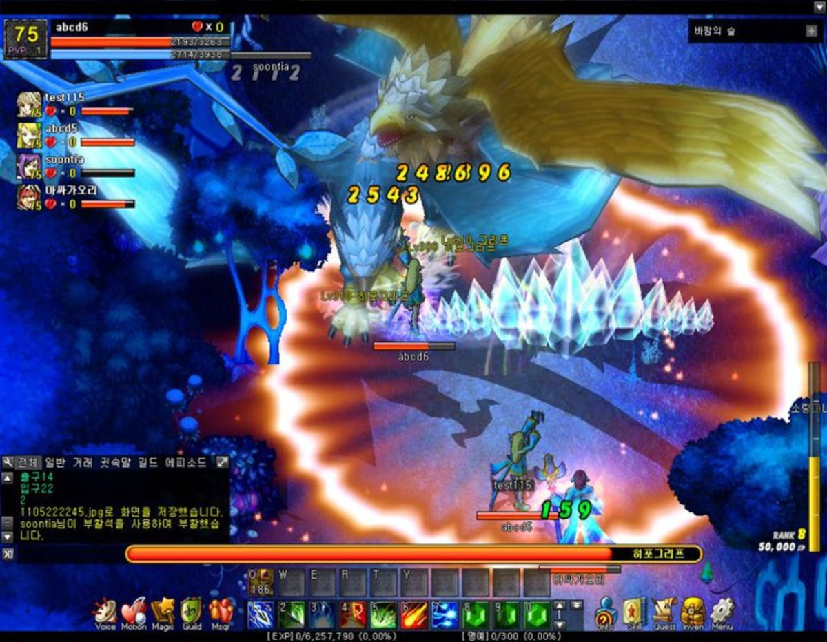 """A screenshot of """"Lunia"""" in action."""