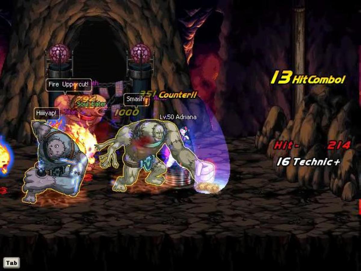"""Gameplay in """"Dungeon Fighter Online."""""""