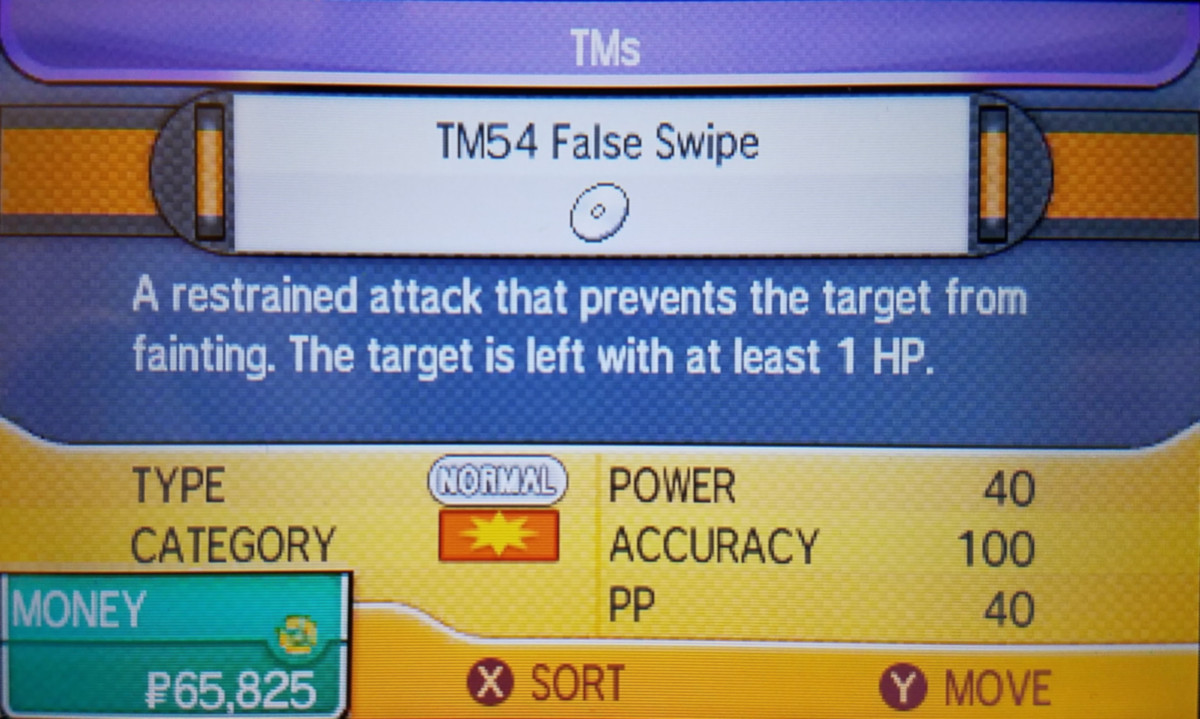 If you don't have a Pokémon that learns False Swipe, buy it from the department store!