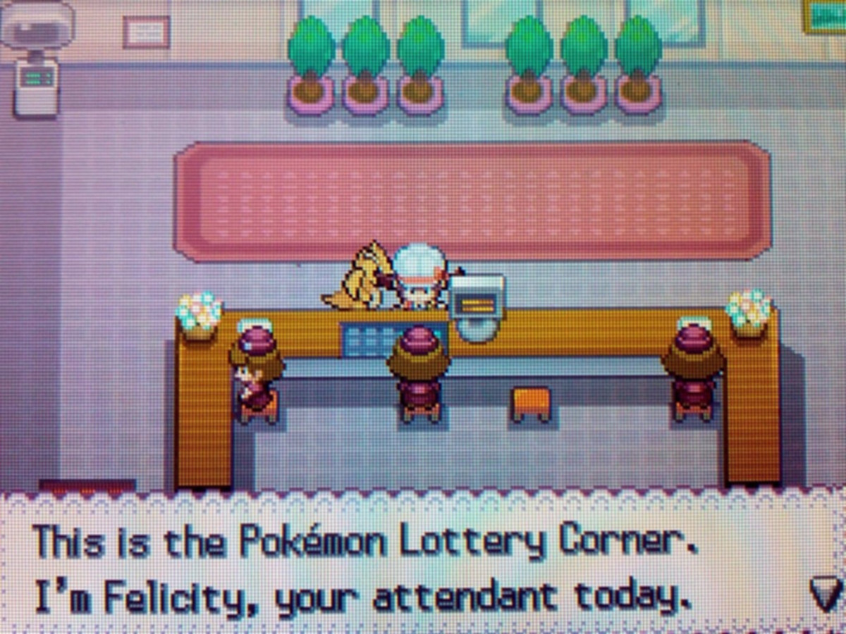The Lottery in Goldenrod City occasionally offers rare prizes, including Master Balls.