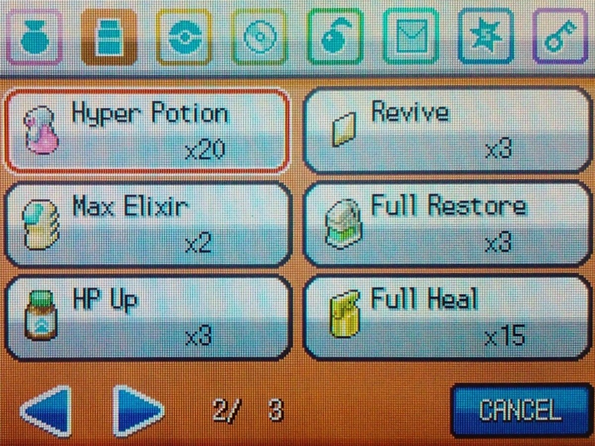 Remember to stock up on potions and antidotes before battling the Elite Four!