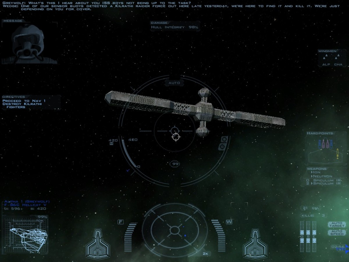 The ISS, or international space station, known in the game as Fort Crockett.