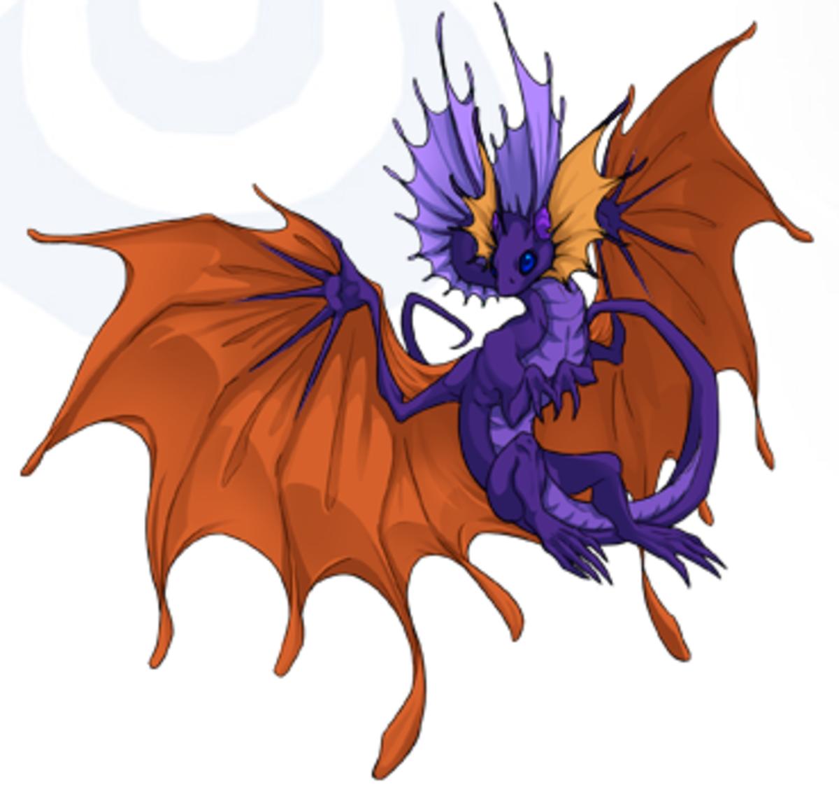 Fiya, the random dragon I got in Flight Rising and the female progenitor of my clan.