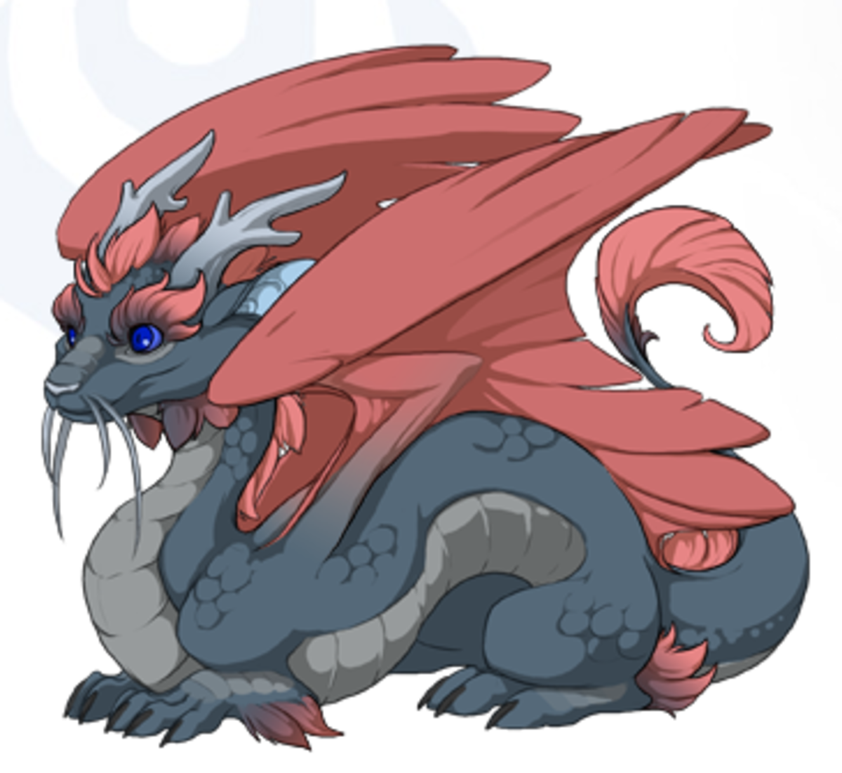 This is Oberon, an Imperial hatchling that I created by using a KS-exclusive breed changing item.