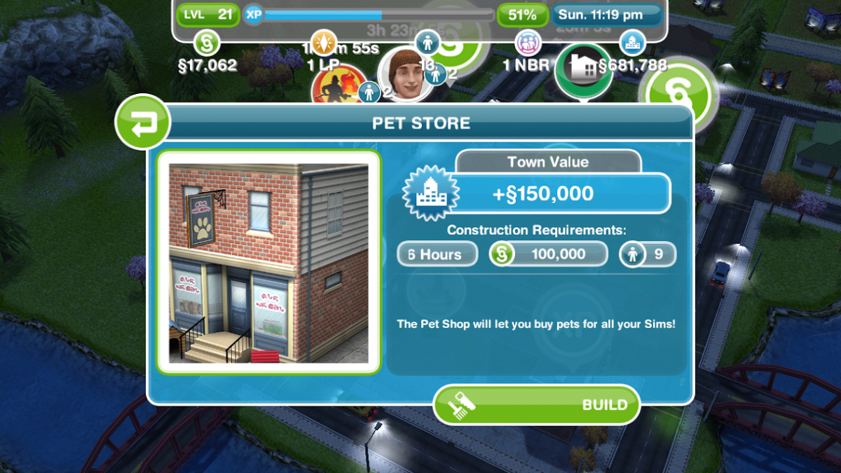 The Pet Store in The SIMS FreePlay