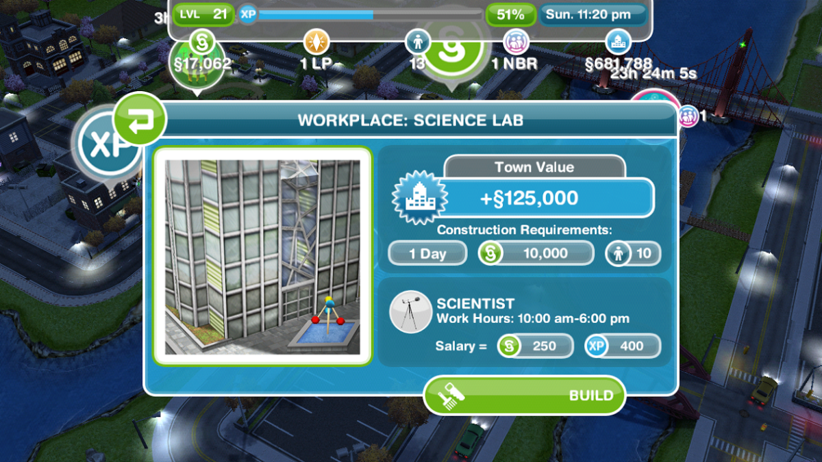The Science Lab in The SIMS FreePlay