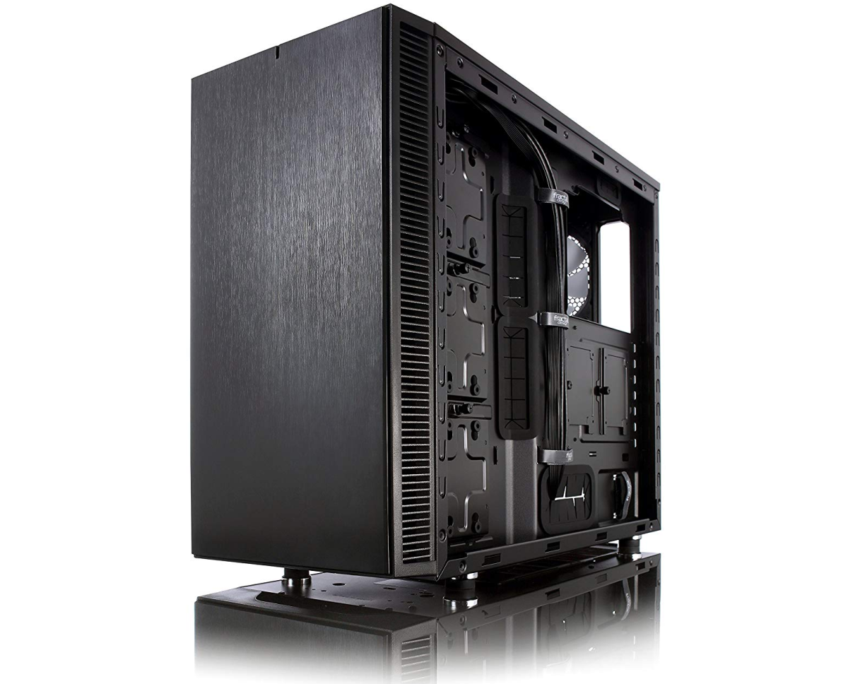 There are a lot of good cases out there. For this one, I chose the Fractal Define S gaming case.