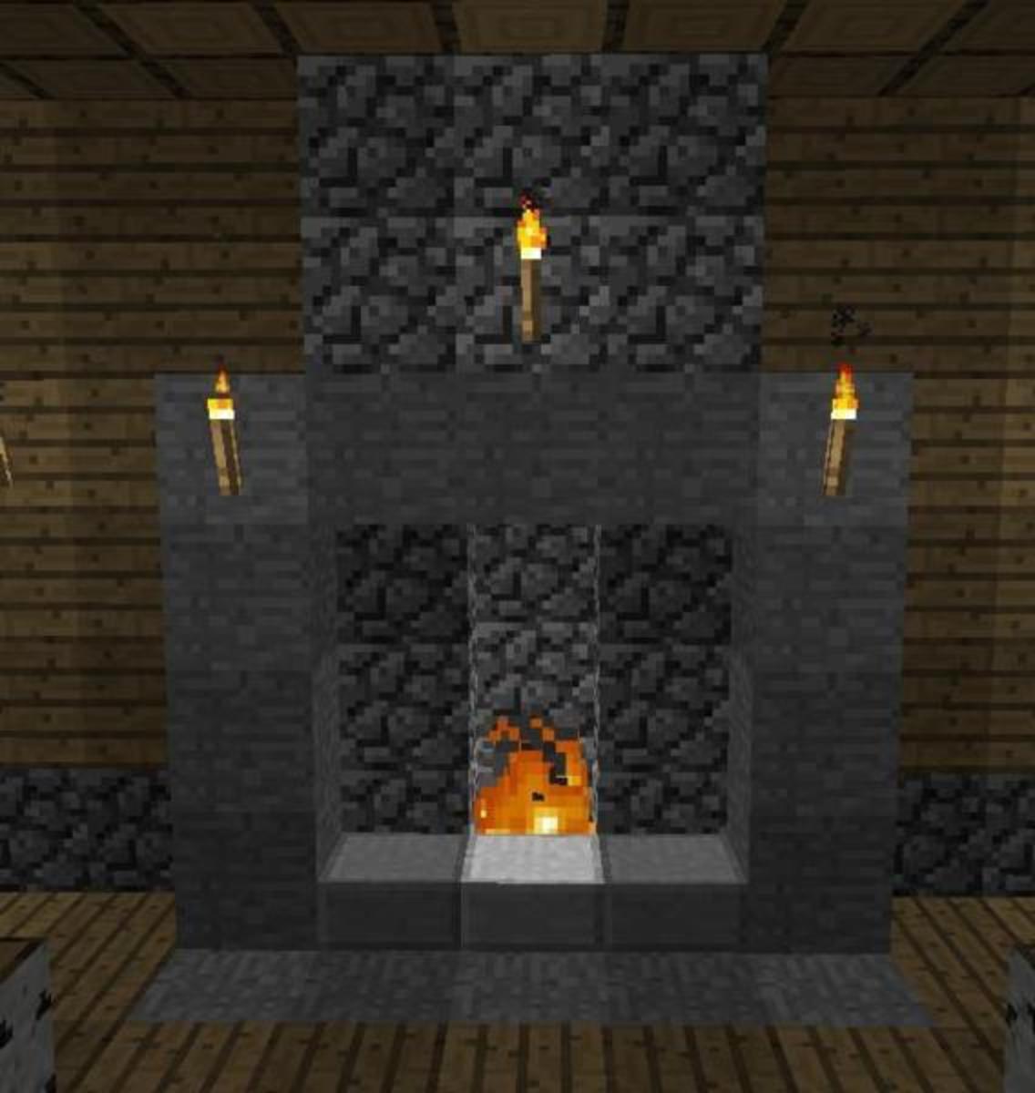 Alternate fireplace design.