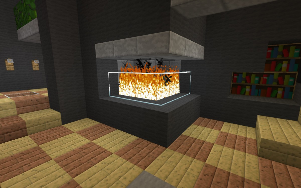 Alternate fireplace design