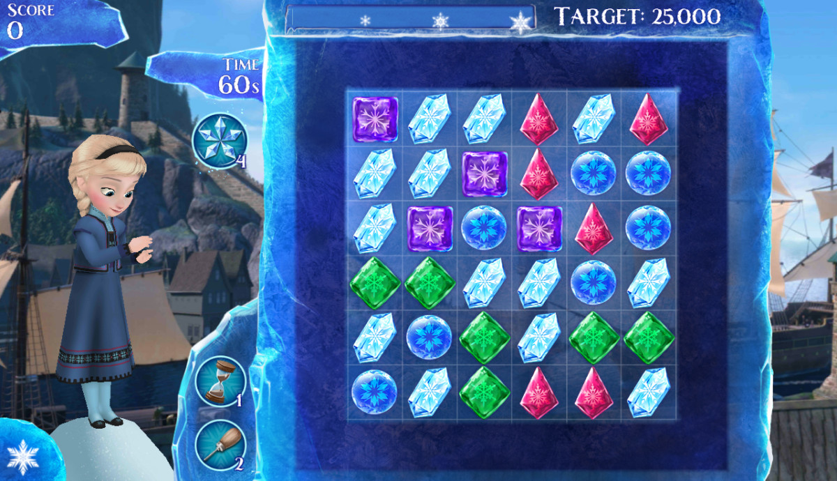 You can't swap a common ice crystal with a snow-covered crystal!