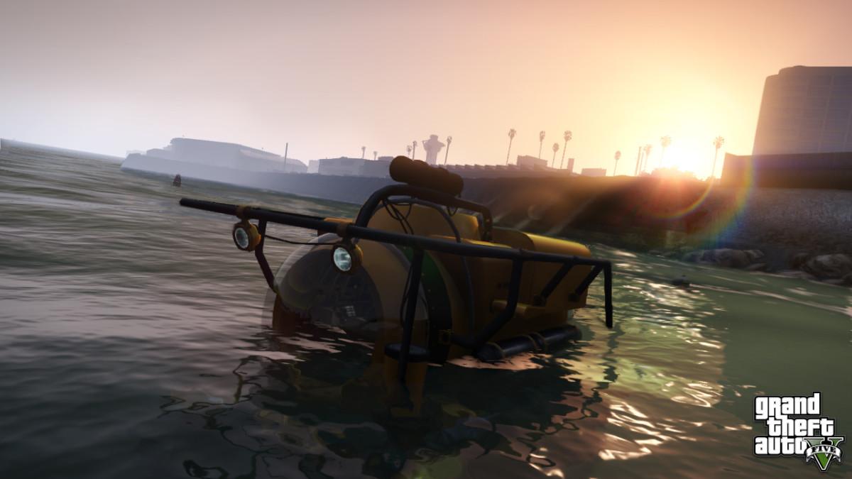 """""""Grand Theft Auto V"""" Alamo Sea cargo plane."""