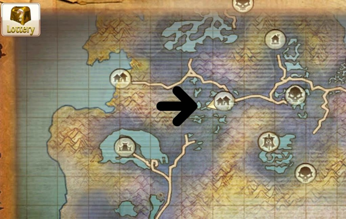 The Swamp Giant's location in Swamp of Wyrms.
