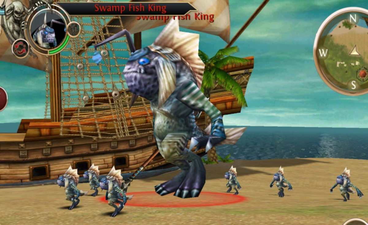 Swamp Fish King in Swamp of Wyrms.
