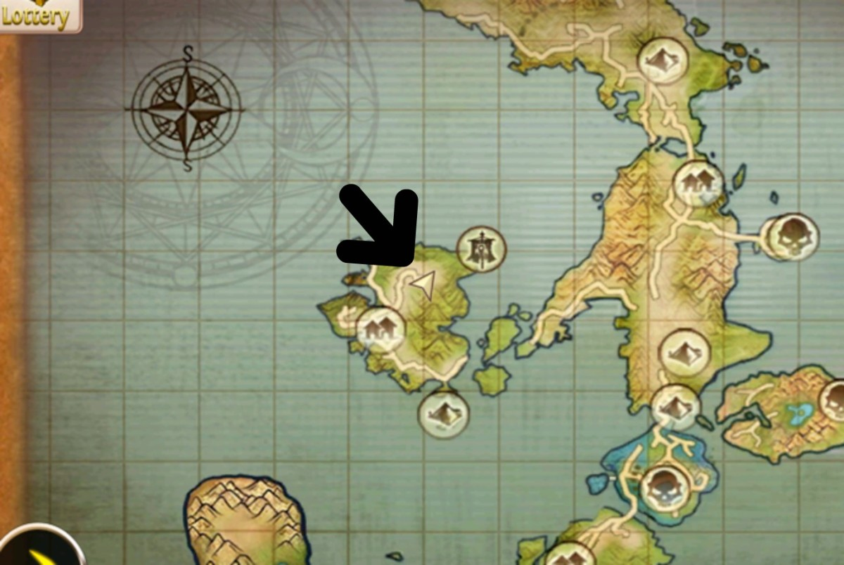 Whispering Island mount location (map).