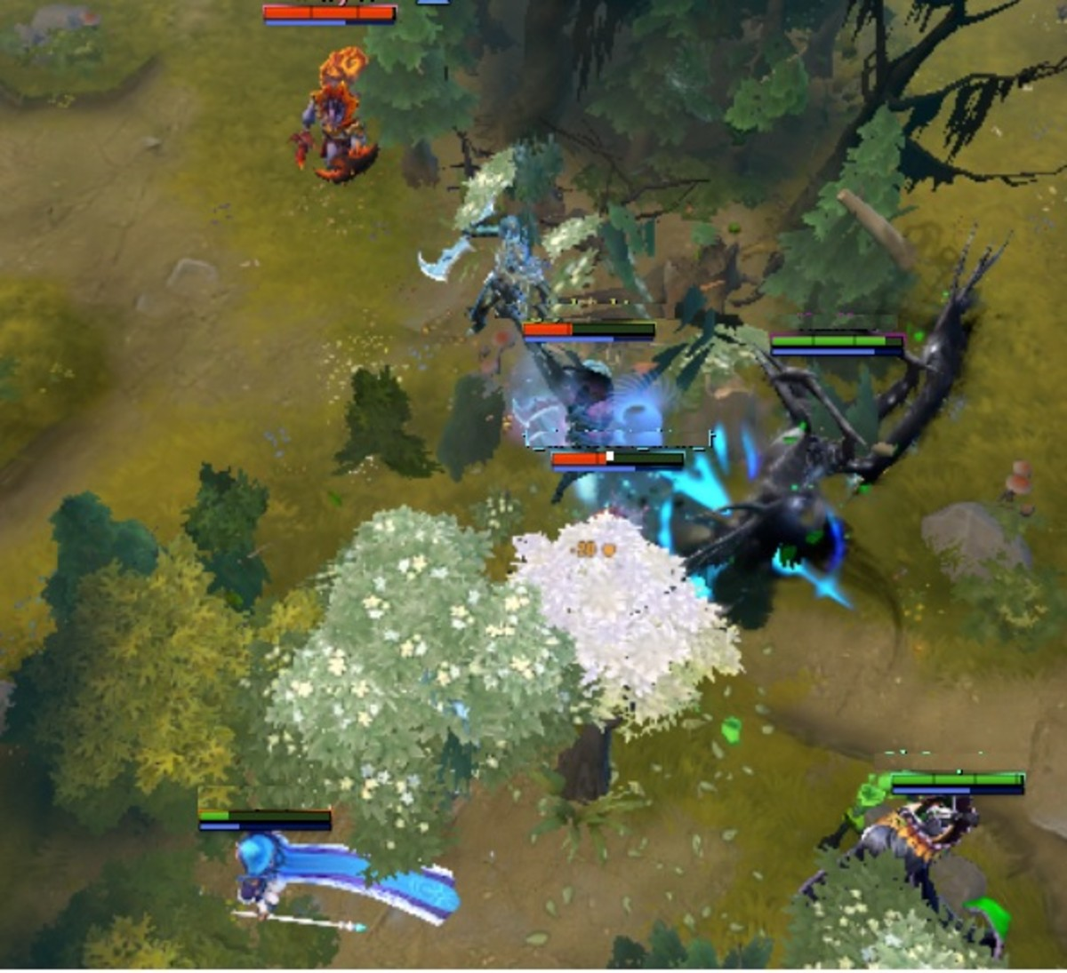 The cunning maiden lures enemies into her team and ulti behind the trees!