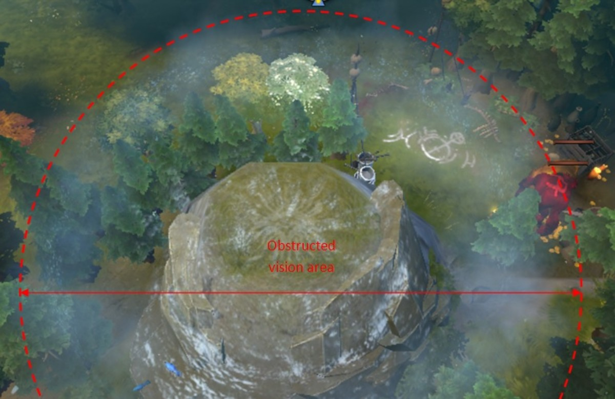 A Crystal Nova casted at the center of the cliff grants vision similar to an observer ward