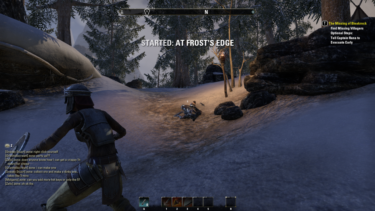At Frost's Edge is a quick quest you can complete as you go.
