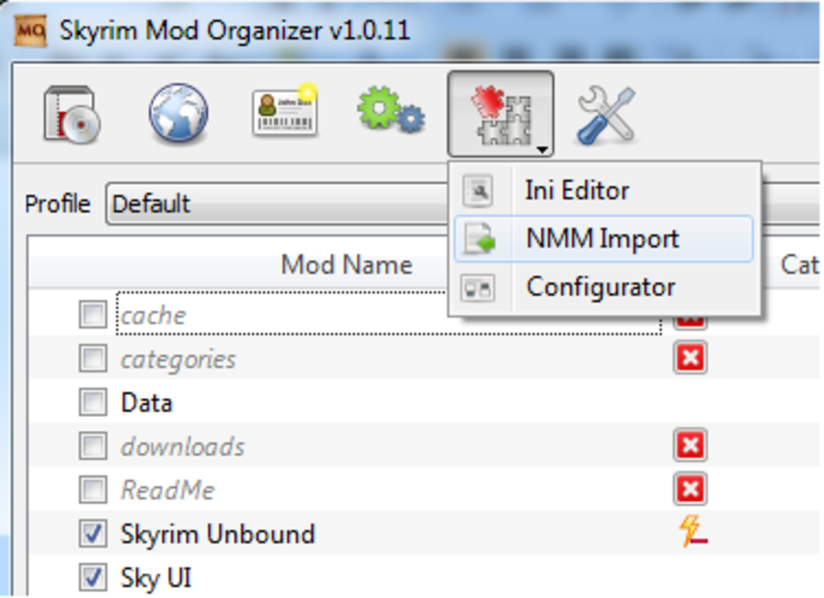 nexus mod manager virtual folder