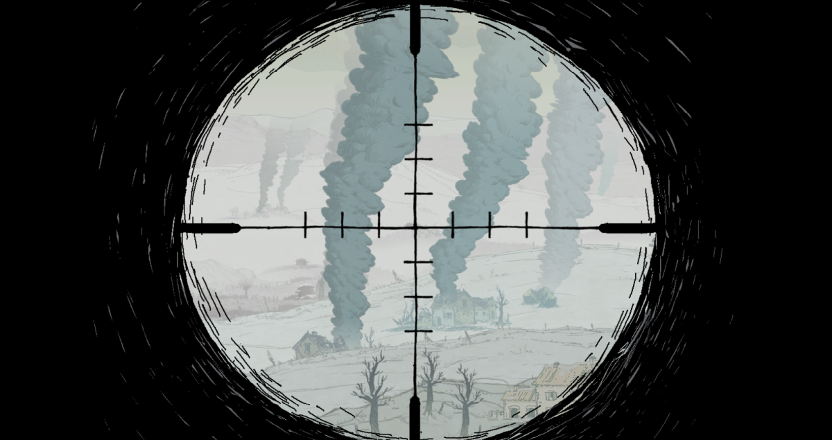 Freddie targets distant enemies in the VErdun section of Valiant Hearts.