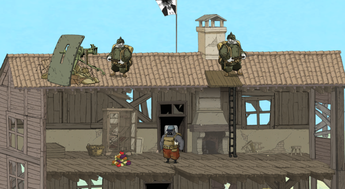 Freddie sneaks through a German-occupied house in Valiant Hearts.