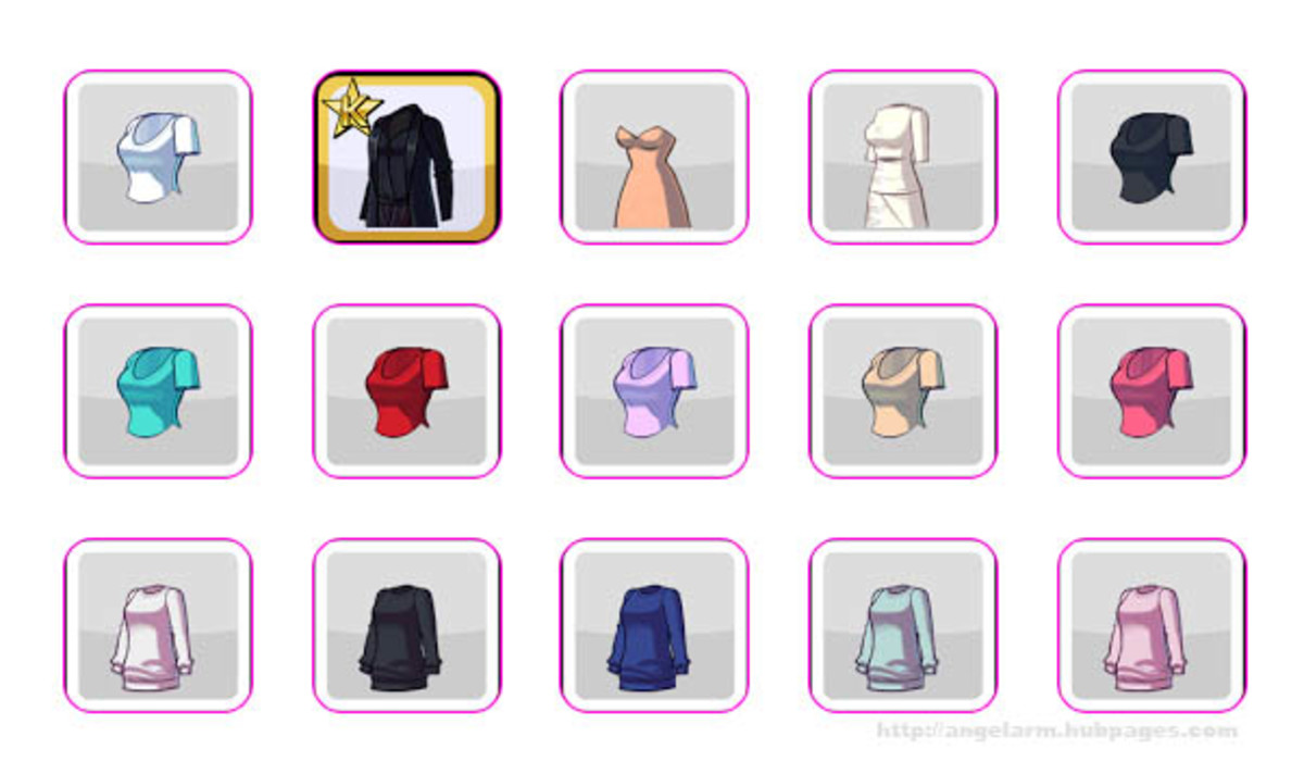 Kim Kardashian: Hollywood Game Clothing Guide - Shirts, Dresses & Outfits (No Hearts or Stars)