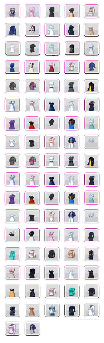 Kim Kardashian: Hollywood Game Clothing Guide - Shirts, Dresses & Outfits (Stars)