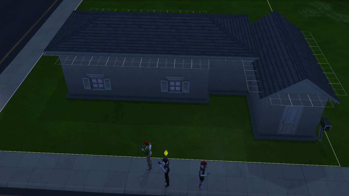 A house-in-progress in The Sims 4. You can purchase homes pre-built, but where's the fun in that?