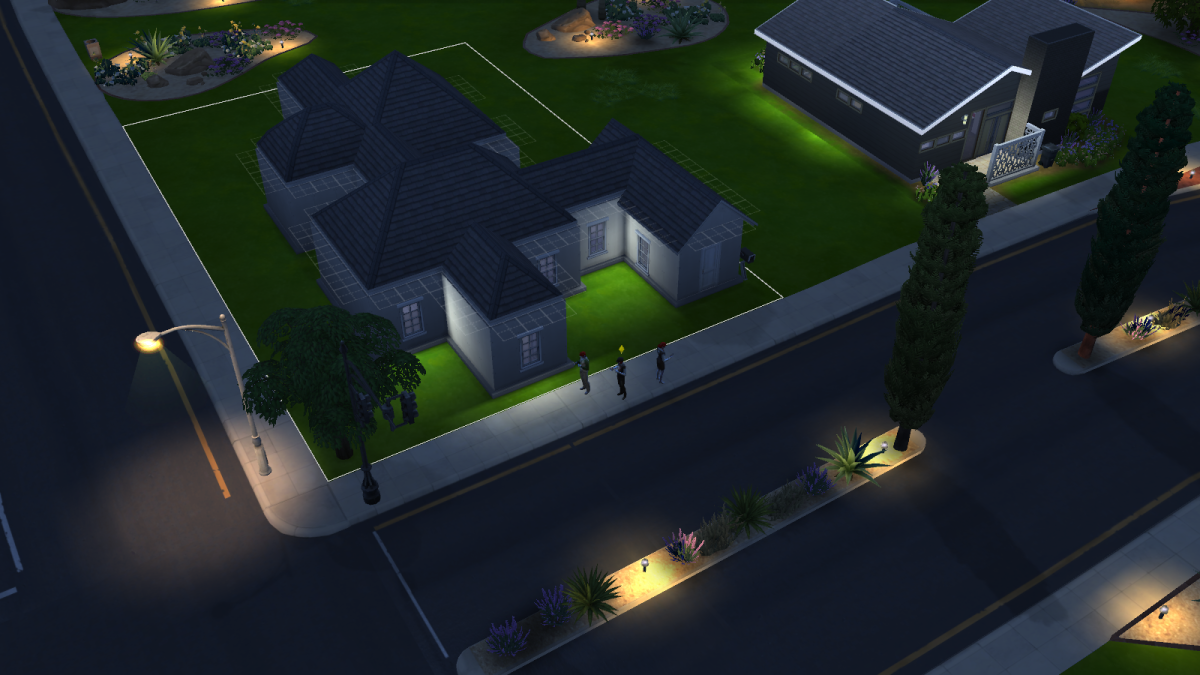 A completed house in The Sims 4.