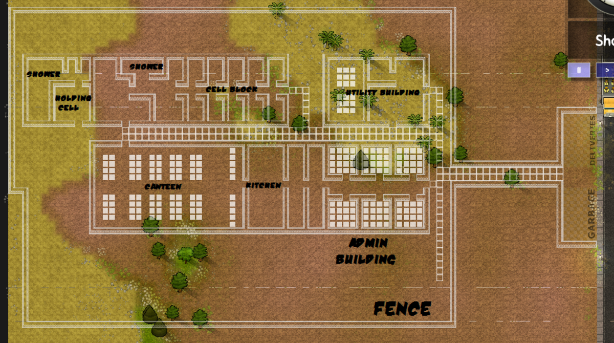 Prison plan sample.