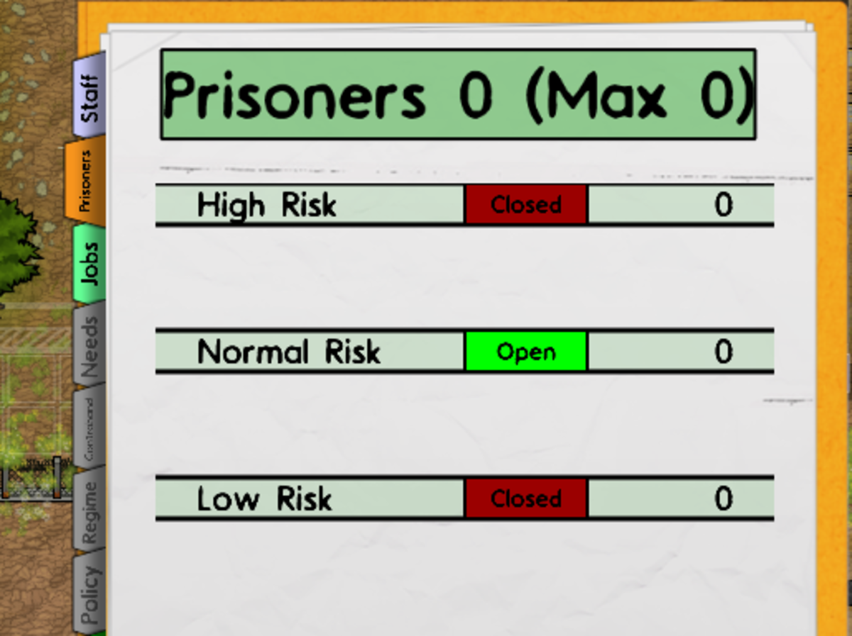 "Turn anything that says ""Open"" to ""Closed"" to prevent prisoners from coming before you're ready."