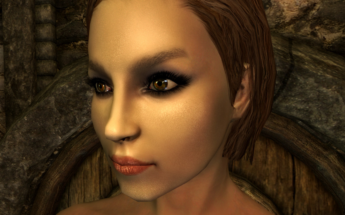 """Coverwoman"", a ""Skyrim"" mod, replaces female faces, lips and make-up with new high resolution textures."