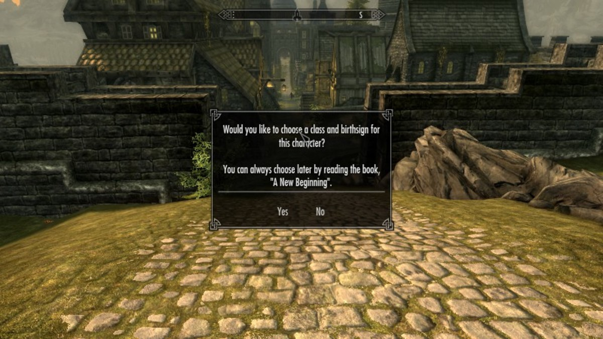 The beginning screen of the character customisation available via the Skyrim Unbound mod.