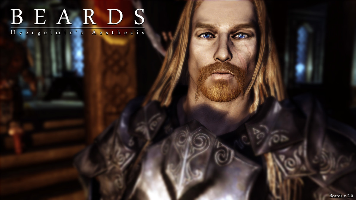 "This mod by Hvergelmir replaces all ""Skyrim"" beards with high resolution hand painted beards."