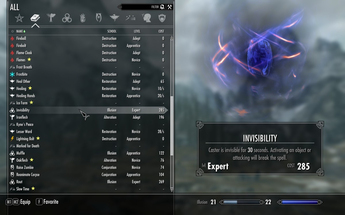 "The ""SkyUI"" mod greatly enhances the User Interface for ""Skyrim"", making much better use of the available screen space."