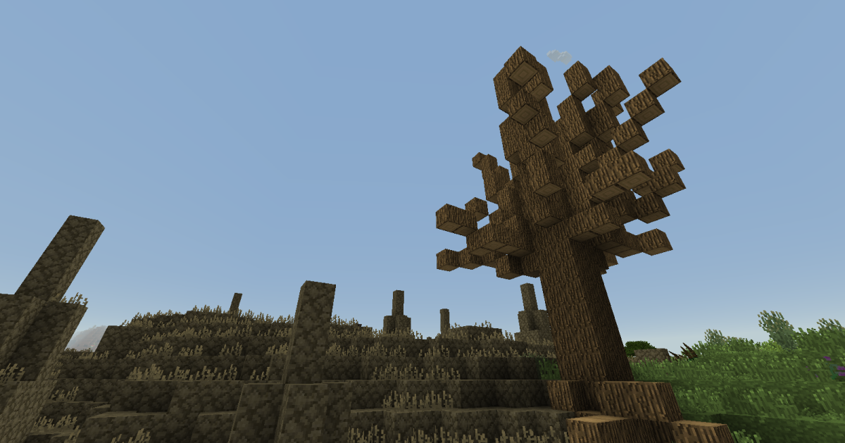 Rare, dead oak trees can provide lumber to those living in deserts or wastelands, though players will still need to travel outside of their home biome to gain access to saplings.