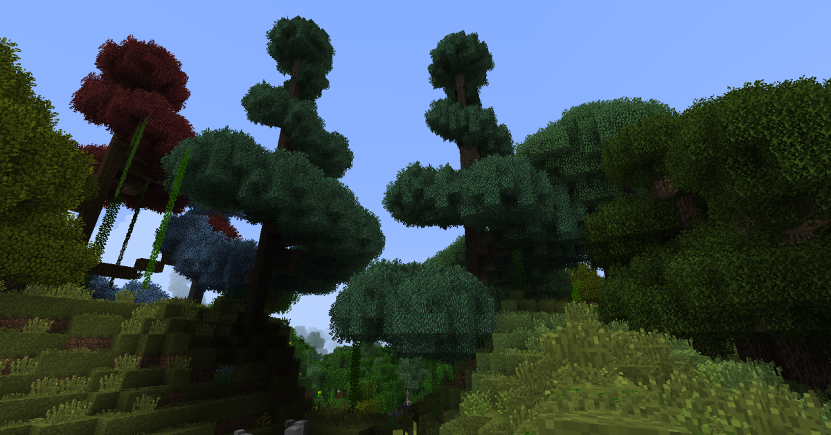 The new trees can come in many shapes, including huge bulbs on top of thick stems, massive swirls that can hide several houses underneath, and great ropes of foliage that spiral out from the top of the tree.